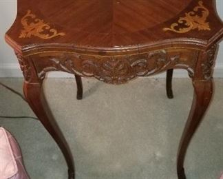 Petite Marquetry Table