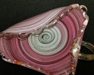 Triangle art Glass candy dish