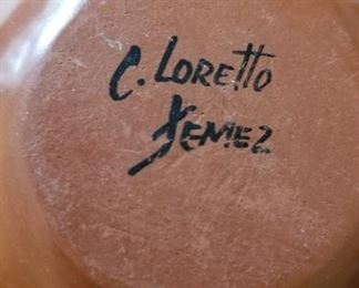 C. Loretto Jimez Pueblo Pottery