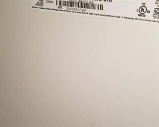 Label for Whirlpool Refrigerator