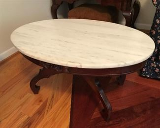 Marble Top Table $ 98.00