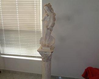 Statue on pedestal X 2
