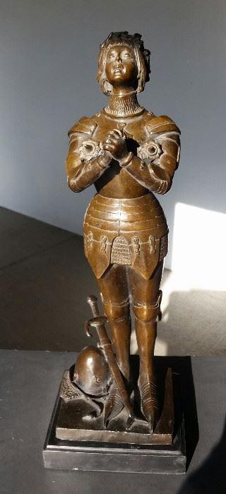 Bronze Joan of Arc Statue