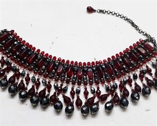 Ruby Glass Collar
