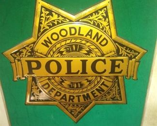 Police logo framed