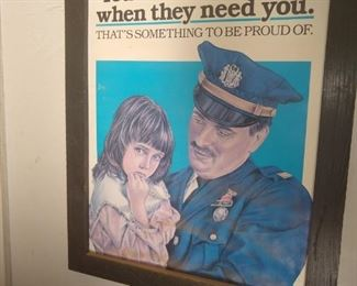 Vintage Police public service poster