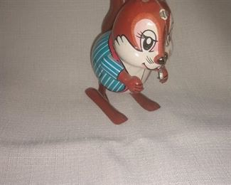 Antique tin winf up toy