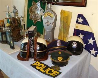Vintage Police memorabilia.