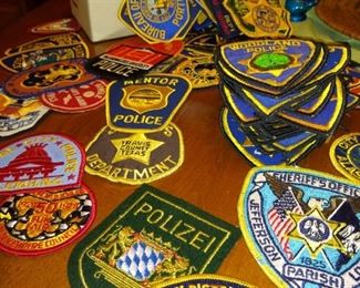 Tons of vintage Police patches from all over.