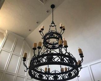 Spanish Revival 24 Light Chandelier