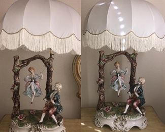 Capodimonte swing lamps (2 available)