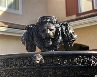 Bronze lions fountain