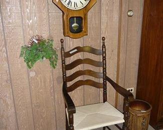 Ladder Back Chair & Clock