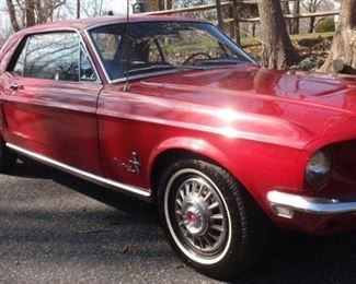 1968 Ford Mustang 302 with only 35k original miles - always Garage kept! Mustang will be available for viewing / inspection during the sale.  $26.5k asking price. Serious buyers/offers as well as test rides will be entertained after the estate sale.