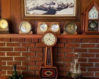 Vintage clocks and ship's clocks