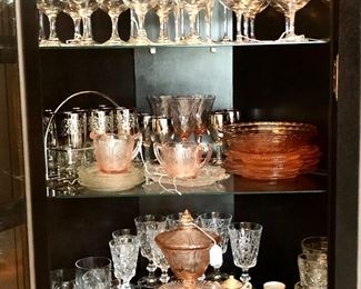A small selection of the glassware available.