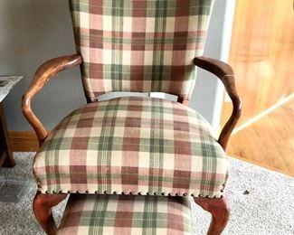 Antique nailhead chair (newer fabric)