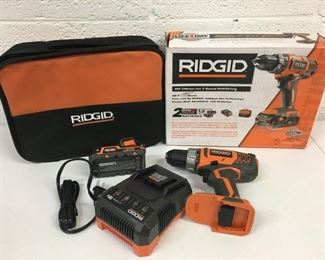 ridgid drill charger battery and case