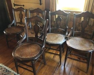 Set 5 Caned Chairs
