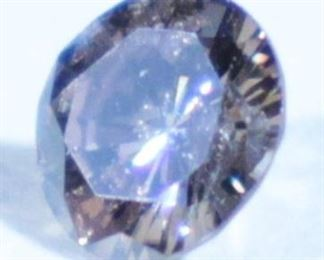 Diamond, Round Brilliant Cut, 0.45 Carat, Fancy Intense Deep Brown Color, I2 Clarity, 5.01-5.10mm x 2.87mm, Includes Appraisal