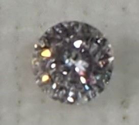 Diamond, Round Brilliant Cut, 0.08 Carat, J-K Color, I1 Clarity, 2.76-2.78mm x 1.77mm, Includes Appraisal