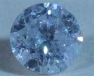 Diamond, Round Brilliant Cut, 0.31 Carat, G-H Color, I3 Clarity, 4.18-4.20mm x 2.71mm, Includes Appraisal