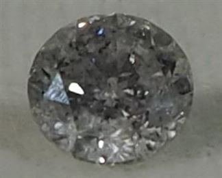 100% Natural Diamond, Round Brilliant Shape, 0.76 Carat, H Color, I1 Clarity, 5.59- 5.63 x 3.59mm, With IGL Report