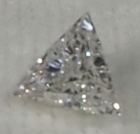 100% Natural Diamond, Triangle Shape, 0.27 Carat, F Color, VVS2 Clarity, 4.99 x 4.92 x 2.00mm, With IGL Report
