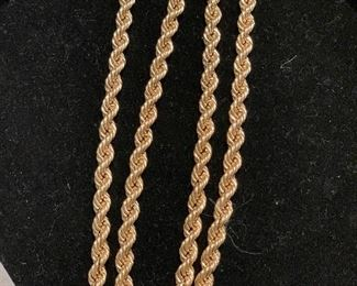 """14K 30"""" heavy rope chain."""