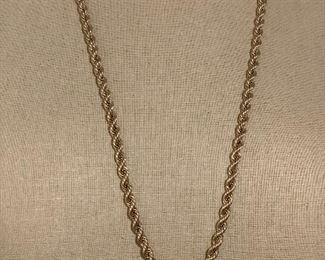 """14k 30"""" heavy rope chain"""