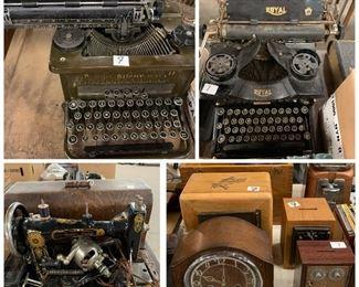 Typwriter, sewing machine
