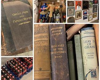 Coca cola, books artwork etc
