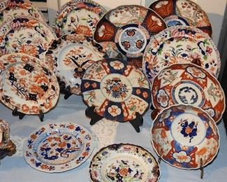 bunch of old dishes