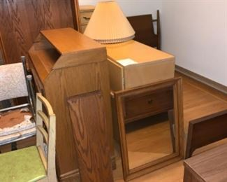 Dresser, chairs, desk,  bed and more