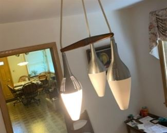 Mid century mod pendants must remove by an electrician please bring your own electrician