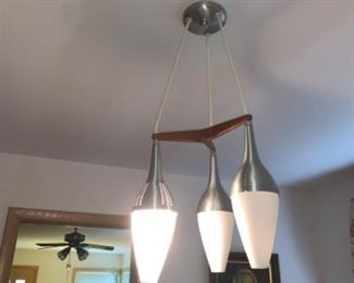 Mid century modern Three light fixture pendant