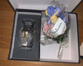 Waterford Crystal and fake flowers