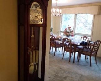 View of Dining Room & grandfather clock