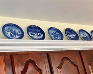 Large collection of Royal Copenhagen plates