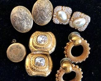 Selection of clip on earrings