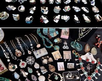 Many Sterling 925 Pieces as well as Nice Costume Jewelry