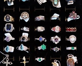 Gemstone Rings - Most 925 Sterling