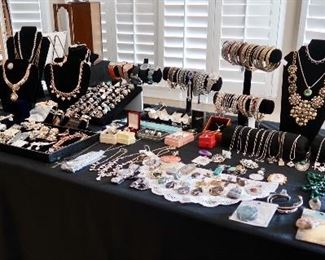 TWO Tables FULL of Jewelry!
