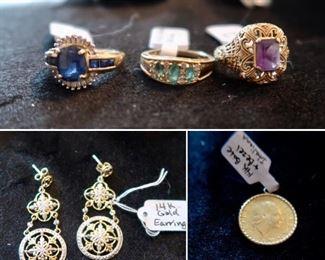 Beautiful 10K & 14K Gold Jewelry