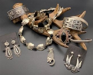 .980 to .950 to sterling silver jewelry from Mexico, 50% off all weekend!
