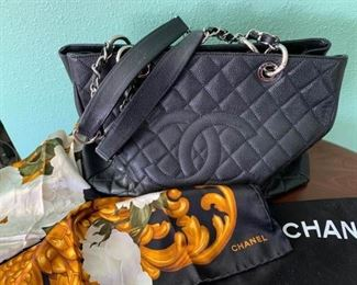 Chanel Handbag and Scarf https://ctbids.com/#!/description/share/310356