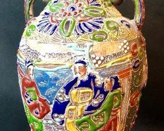 Japanese Satsuma Moriage Vase