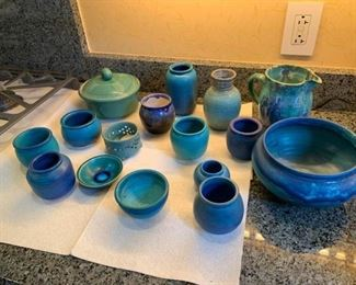 16 Pieces of Signed Pottery