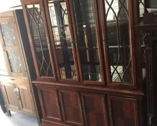 Federal Style Lighted China Cabinet I