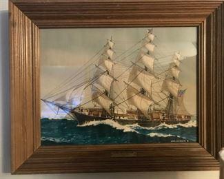 Colgrave II framed ship print